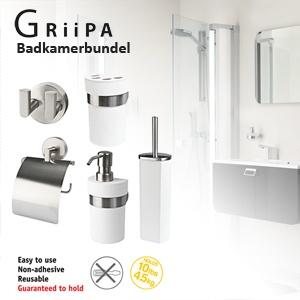 Griipa badkamer set; ophangen zonder plakken of boren! | Dagelijkse ...