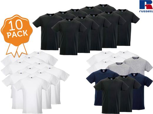 iBood Health & Beauty - 10 Russel Basic Slim Fit T-shirts ? 145 gr/m2 katoen
