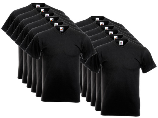 iBood Health & Beauty - 12x FOTL V-hals Value Weight Shirts