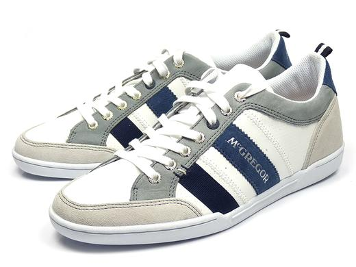 iBood Health & Beauty - McGregor Sullivan White Denim herensneakers