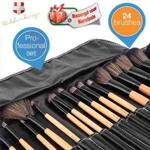 iBood Health & Beauty - Professionele Bilderberg Beauty 24-delige make-up borstel set met Travel Case in cadeauverpakking