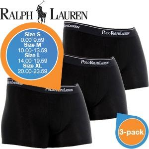 iBood Health & Beauty - Ralph Lauren Heren Boxer 3-pack (Zwart) - Maat S