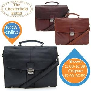 iBood Health & Beauty - The Chesterfield Brand vintage laptoptas ? Zwart (00:00 - 10:59u)