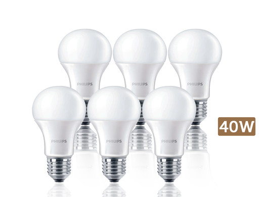 iBood Home & Living - 6x Philips LED Lampen E27, 40W/60W