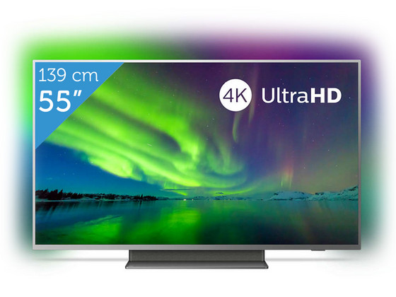 "iBood Home & Living - Philips 55"" 4K Ultra HD Android LED TV"