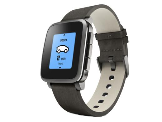 iBood - Pebble Time Steel Smartwatch