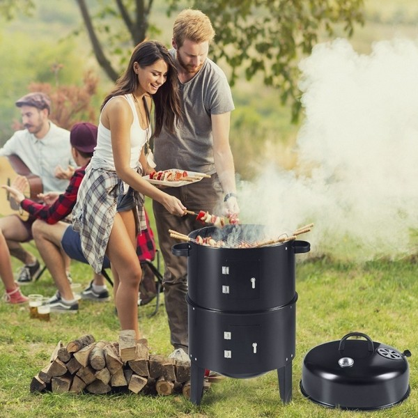 iChica - BBQ Smoker 3-in-1