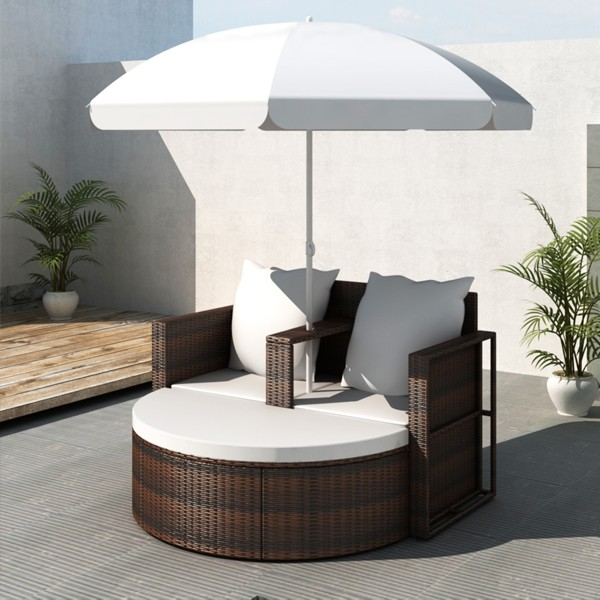 iChica - Wicker Loungeset Deluxe