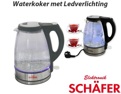 Schafer waterkoker met led verlichting dagelijkse for Waterkoker led verlichting