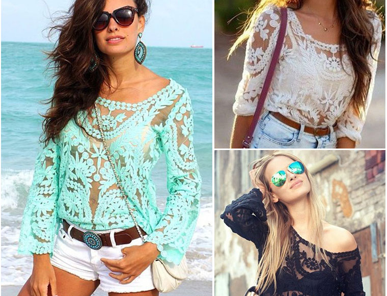 Lifestyle Deal - Boho Ibiza Top In Turqouise, Zwart Of Wit