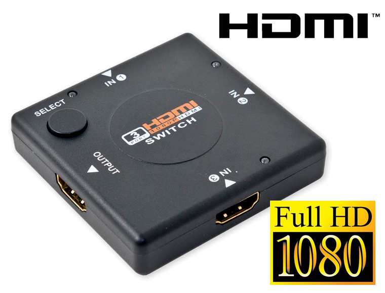 Lifestyle Deal - Compacte Hdmi-switch Met 3 Ingangen