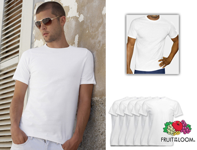 Lifestyle Deal - Fruit Of The Loom T-shirts 6 Stuks