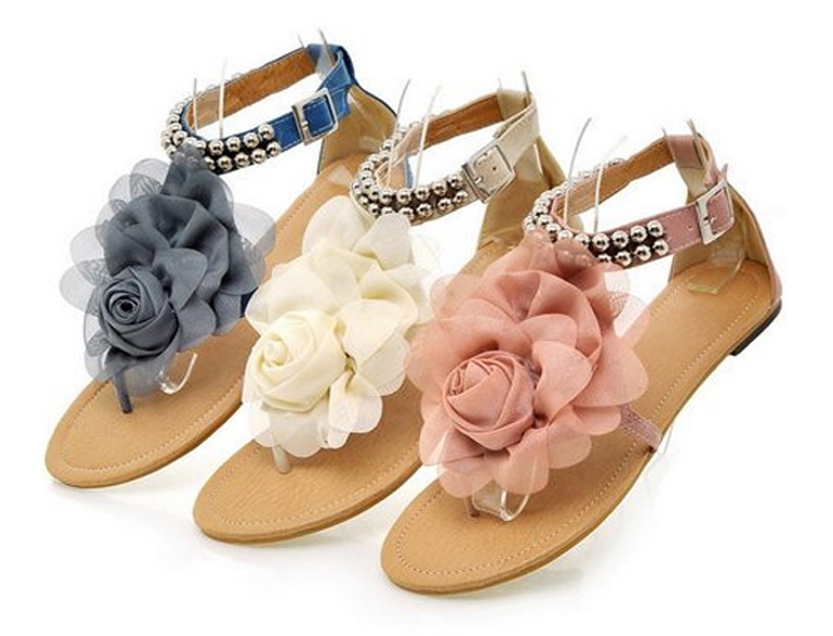 Lifestyle Deal - Ibiza Flower Sandalen In 3 Kleuren