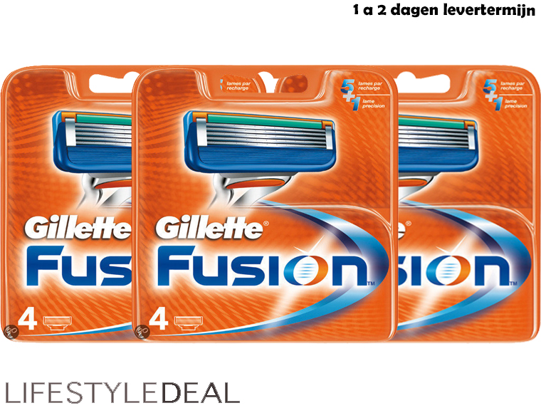Lifestyle Deal - Original Gillette Fusion 4Pack