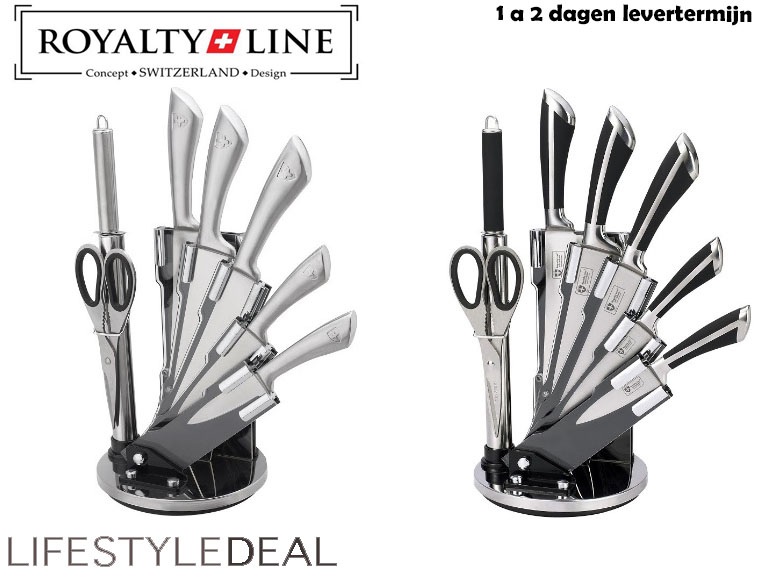 Lifestyle Deal - Royalty Line 8-Delige Rvs Messenset