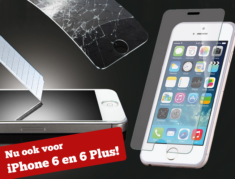 Lifestyle Deal - Screenprotector Van Gehard Glas Voor Iphone 4/S, 5/S, 6, 6+ Of Galaxy S3, S4 Of S5