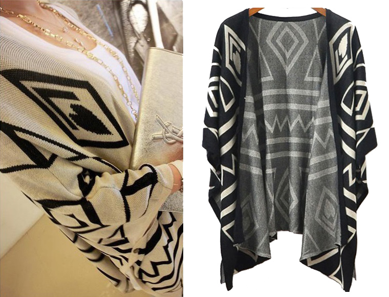 Lifestyle Deal - Trendy Cardigan Met Aztec Design In 2 Kleuren