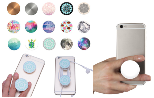 Marge Deals - 2X Popsockets Button Met Auto Houder