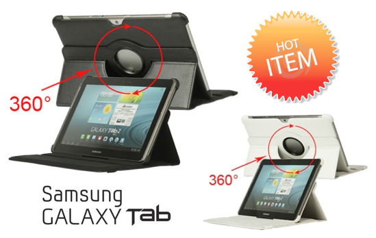 Marge Deals - 360 Rotatie Case Voor Samsung Galaxy Tab 1,2,3