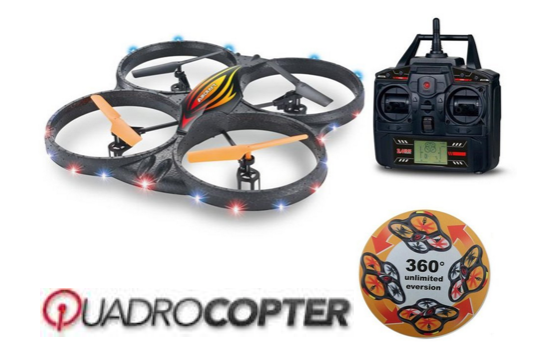 Marge Deals - Quadcopter 2.4Ghz Met Hd Camera En Lights