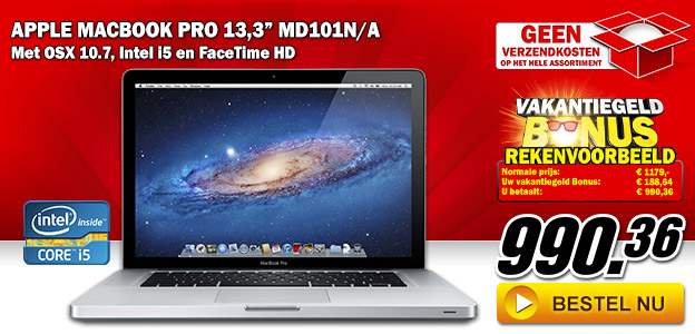 "Media Markt - Apple Macbook Pro 13,3"" MD101N/A"