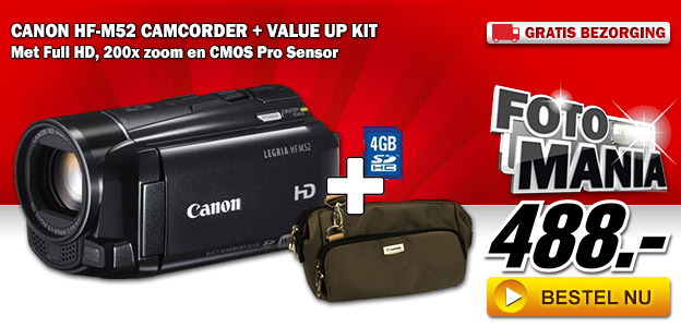 Media Markt - Canon HF-M52 camcorder + Value Up Kit
