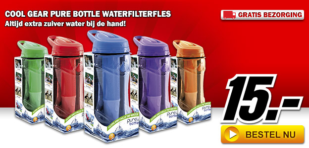 Media Markt - Cool Gear Pure Bottle waterfilterfles