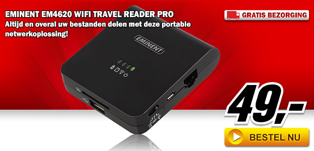 Media Markt - Eminent EM4620 WiFi Travel Reader Pro