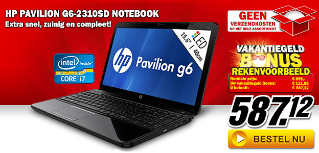 Media Markt - HP Pavilion G6-2310SD notebook