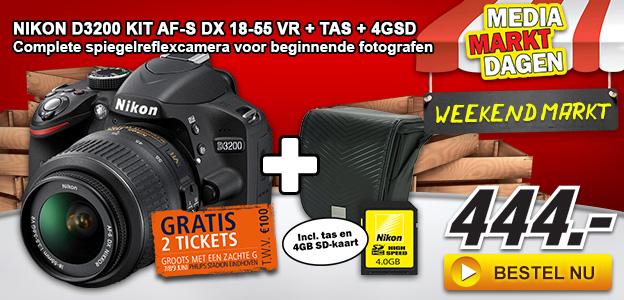 Media Markt - Nikon D3200 AF-S DX 18-55 VR + Kit