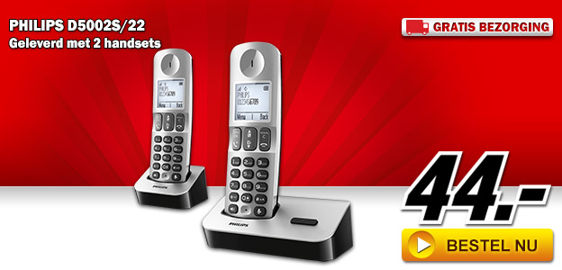 Media Markt - PHILIPS D5002S/22 DECT-set