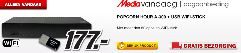 Media Markt - POPCORN HOUR A-300 + USB WiFi-stick