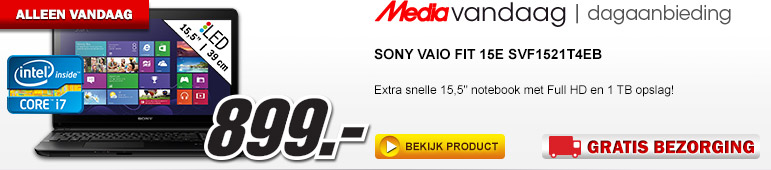 Media Markt - SONY Vaio Fit 15E SVF1521T4EB