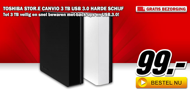 "Media Markt - TOSHIBA STOR.E CANVIO 3 TB 3.5"""" USB 3.0"