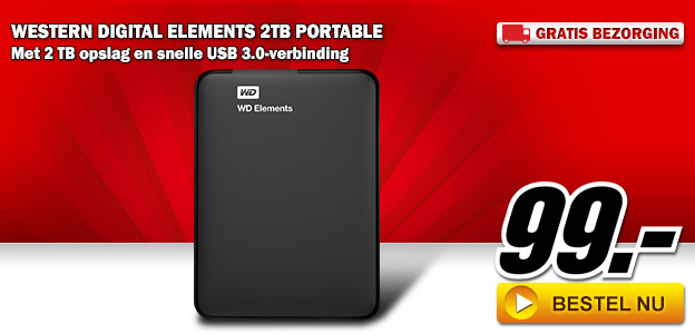 Media Markt - WESTERN DIGITAL Elements 2TB Portable