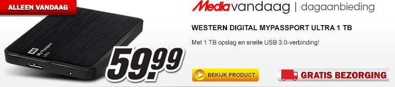 Media Markt - WESTERN DIGITAL Mypassport Ultra 1 TB