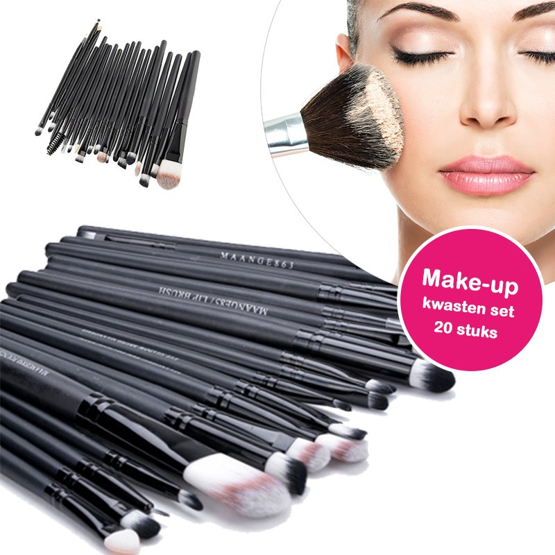 One Day For Ladies - 20 stuks make up kwasten set