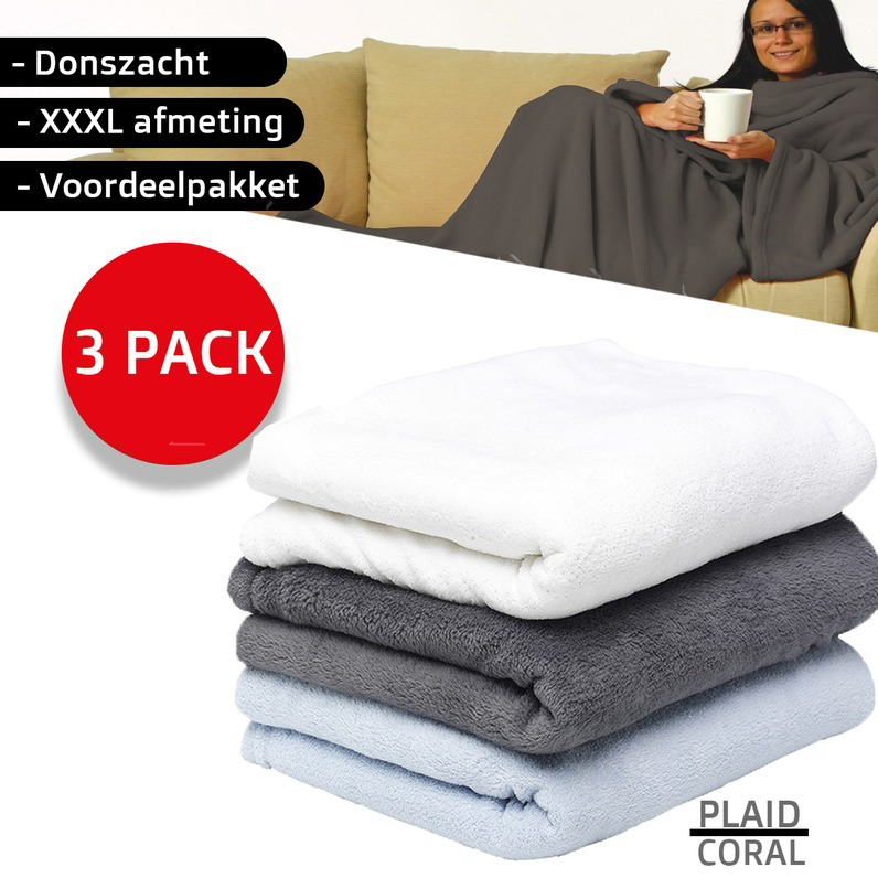 One Day For Ladies - 3 pack fleece dekens