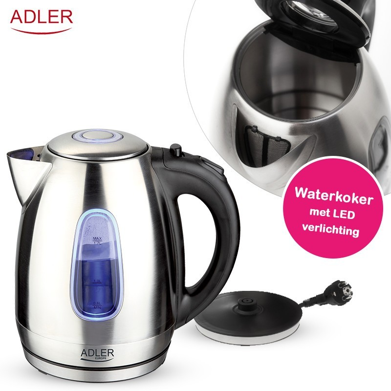 One Day For Ladies - Adler Rvs waterkoker met led