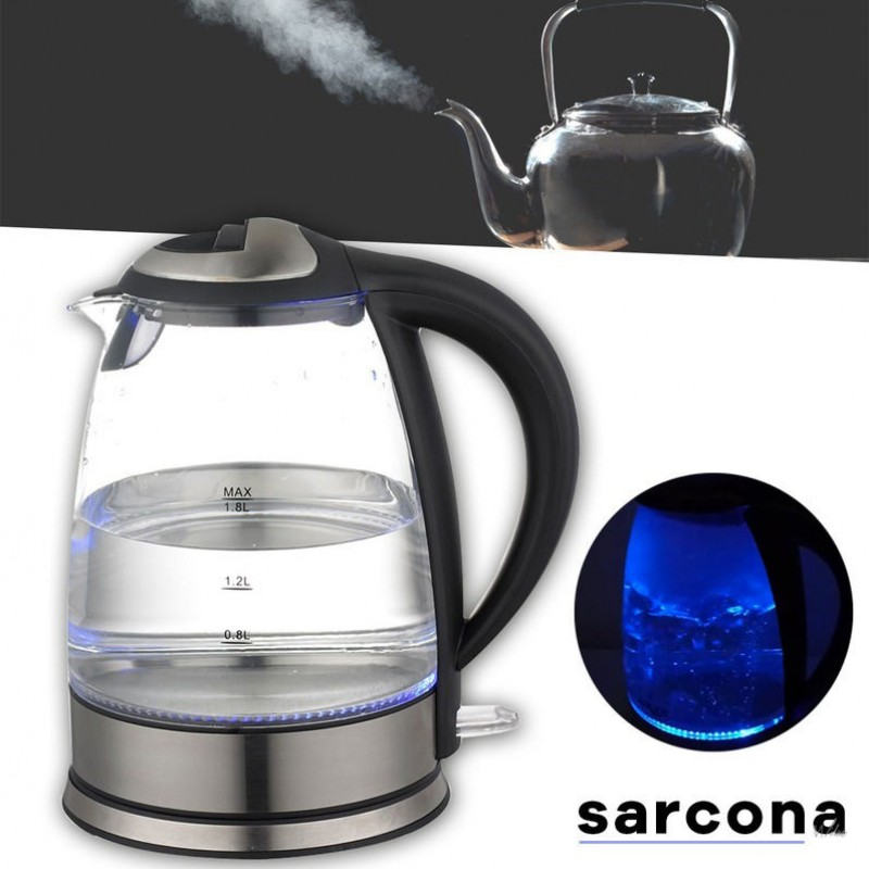 One Day For Ladies - Grafner Sarcona Design Glazen Waterkoker 1.8L