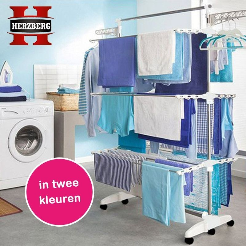 One Day For Ladies - Herzberg Multifunctioneel opvouwbaar droogrek