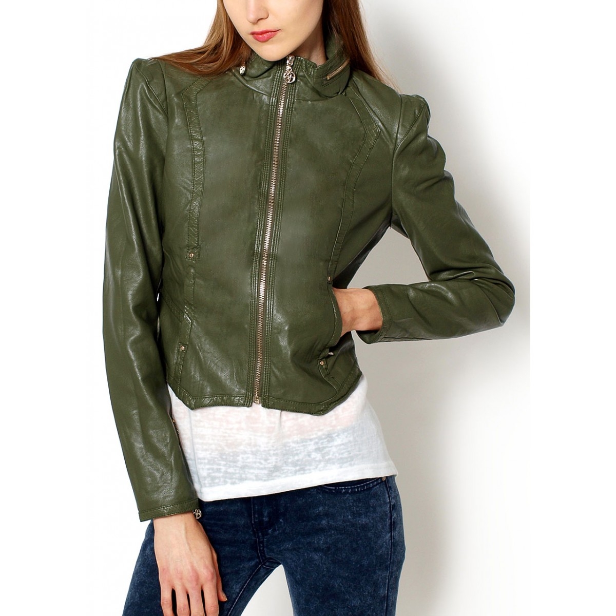 One Day For Ladies - Leather look jas