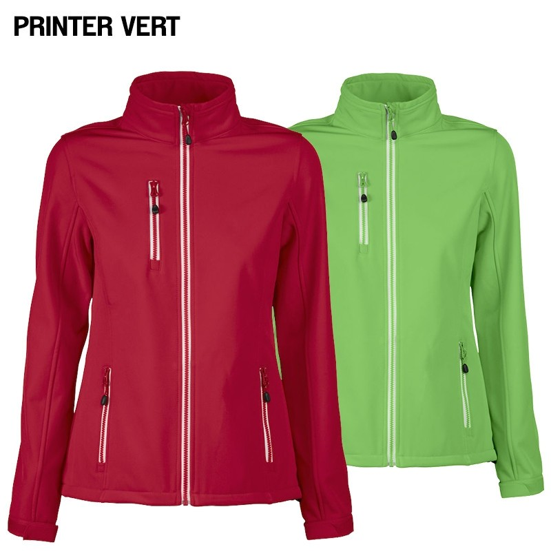 One Day For Ladies - Softshell Jassen van Printer Vert Dames