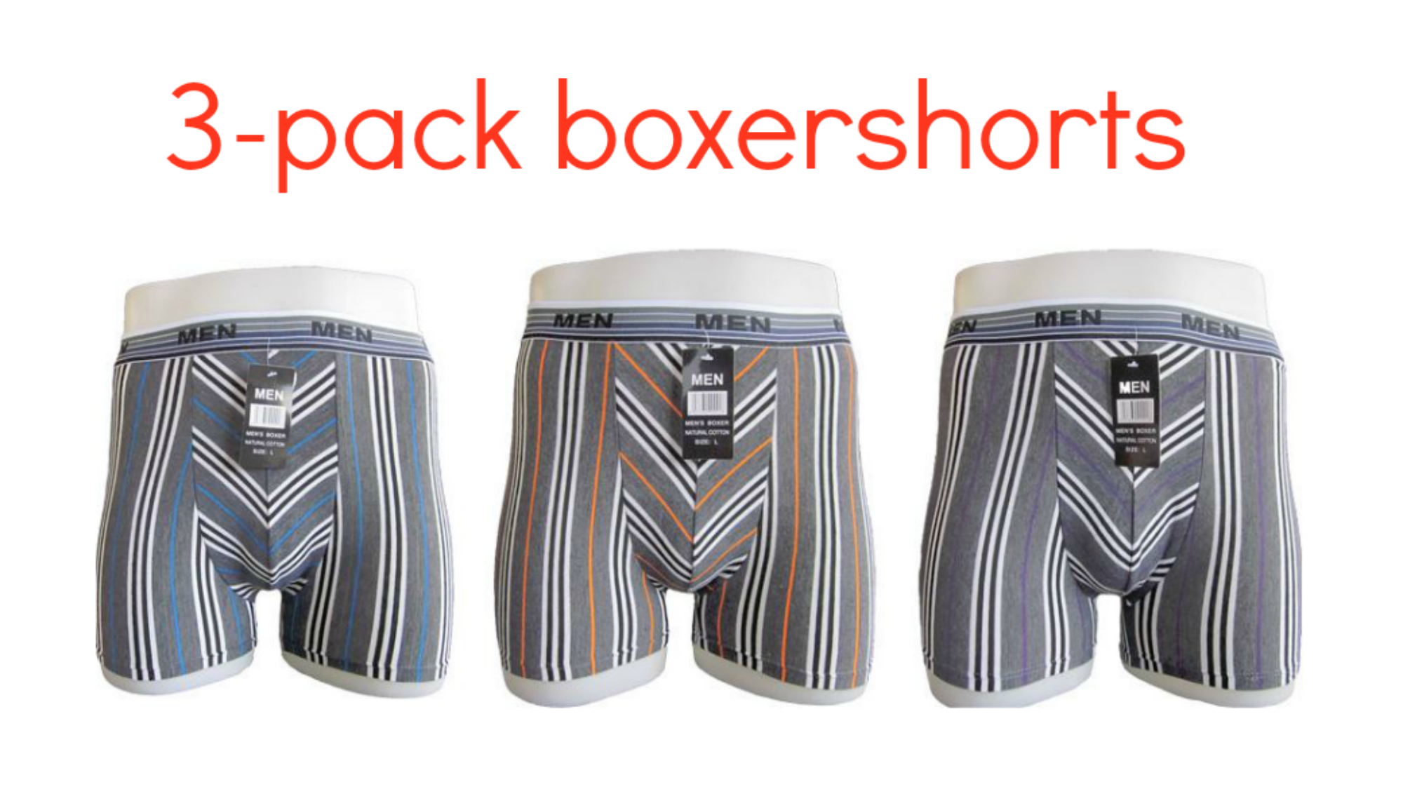 One Day Price - 3x herenboxershorts