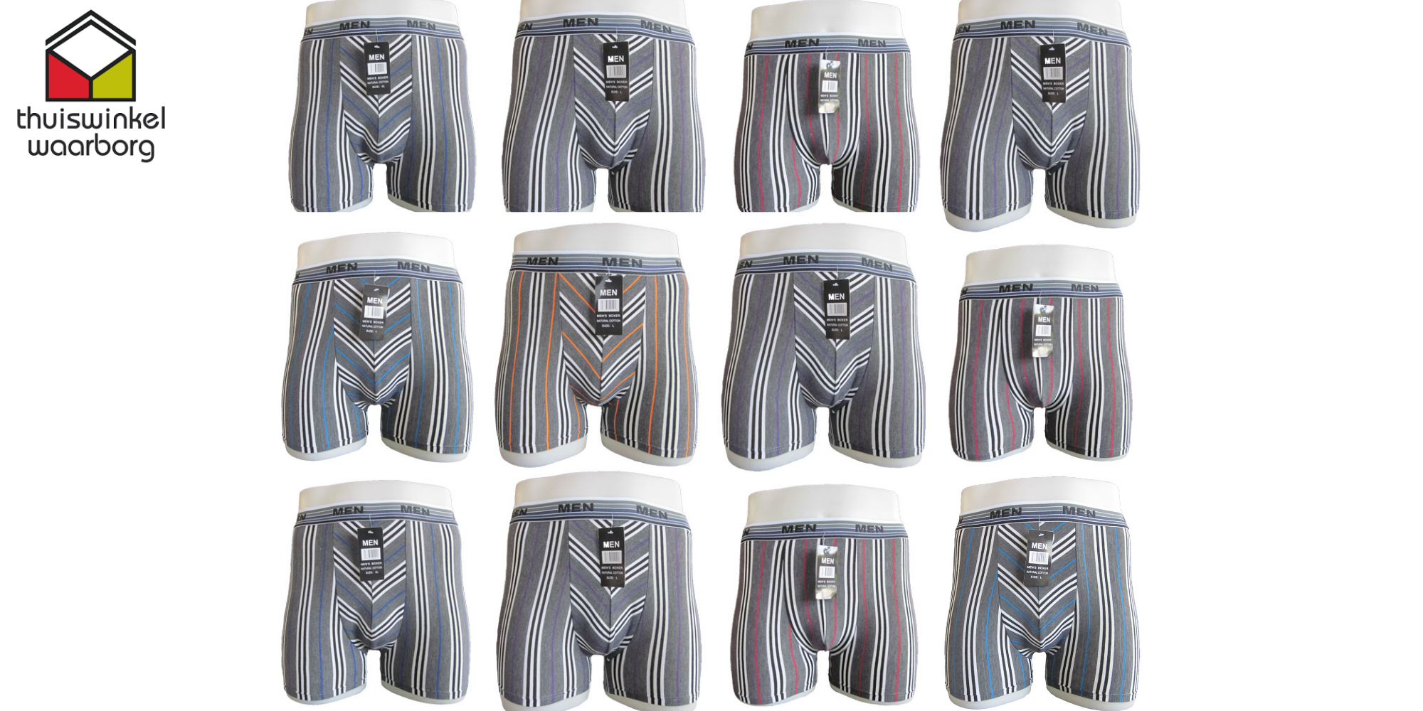 One Day Price - Boxershort pakket- 12 stuks