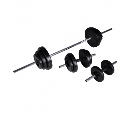 VidaXL - Barbell/dumbbell set 30,5kg