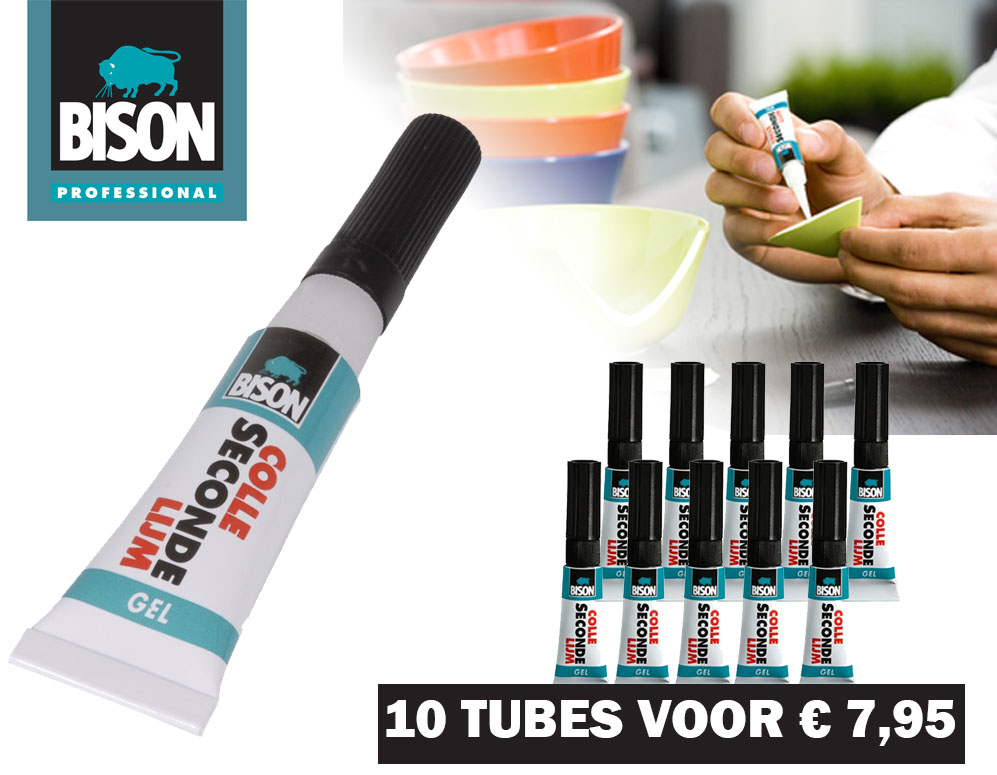 vsdeal.com - 10-Pack Bison Seconde Lijmgel (OP=OP)