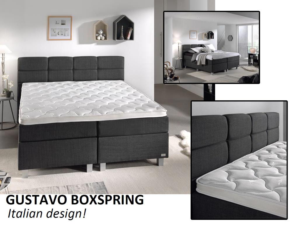 Gustavo compleet 2 persoons boxspring met italiaans design